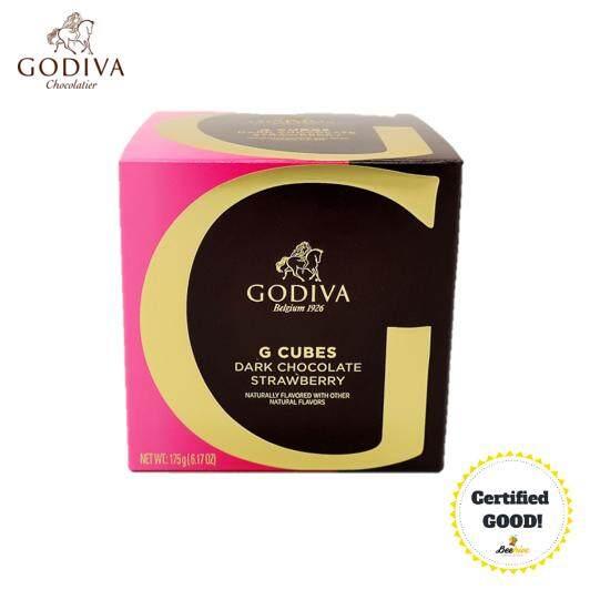 GODIVA G Cube Dark Chocolate Strawberry 175g (22pcs) *FREE Note Writing*