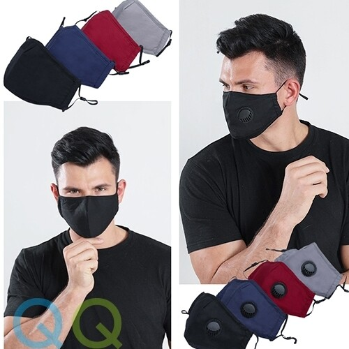 QQ 5 Layers PM2.5 Face Mask Filter Pad | Adult Reusable 3 Layers Cotton Face Mask with Breathing Valve and Filter Pocket Adjustable Earloop Topeng Muka 3 Lapis Gelung Telinga