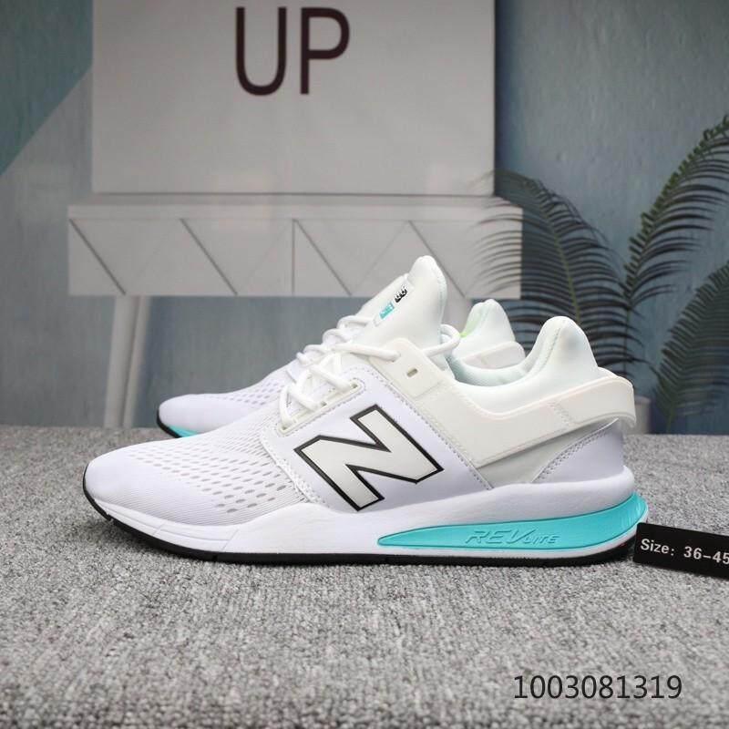 การใช้งาน  มุกดาหาร NEW BALANCE 247 NB247 รองเท้า/รองเท้าลำลอง (สีขาว)