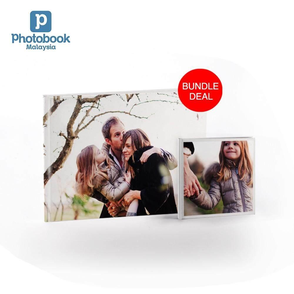 """(Bundle) 14"""" x 11"""" Large Imagewrap Hardcover Photobook + 6"""" x 6"""" Mini Softcover Photobook"""