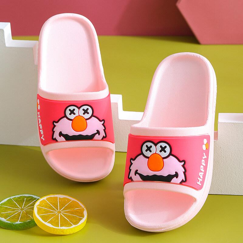 OO รองเท้าแตะเด็ก,รองเท้าชายหาดการ์ตูนพร้อมพื้นรองเท้านิ่มสำหรับเด็กชายและเด็กหญิง