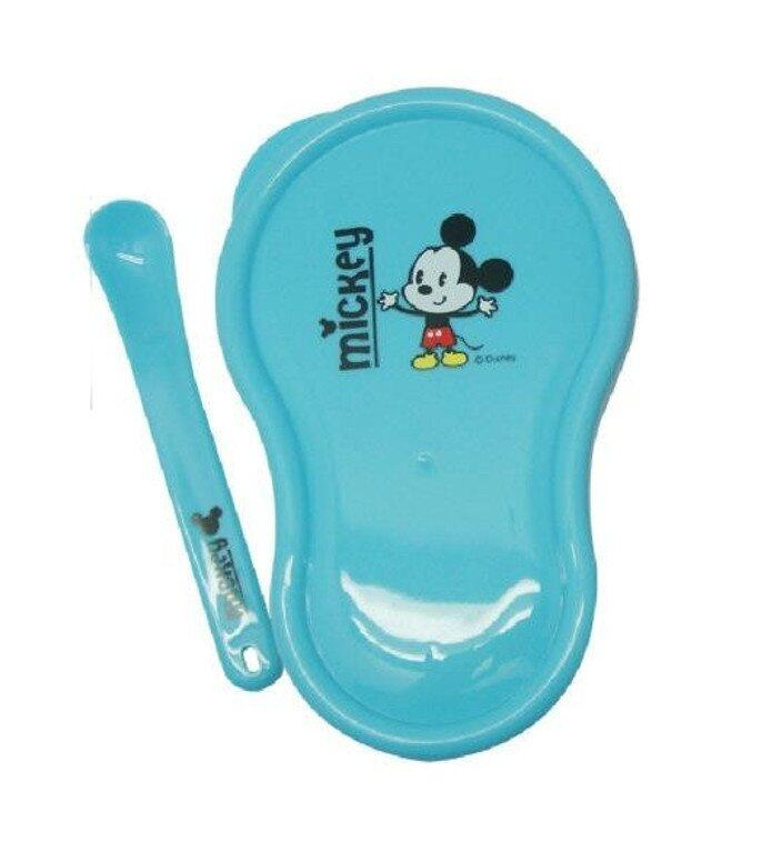 Disney Cuties Baby Grinder Bowl with Spoon Blue Mickey