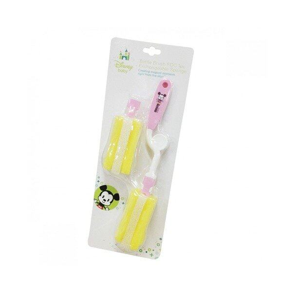 Disney Cuties Bottle Brush & Sponge Set - Pink Colour