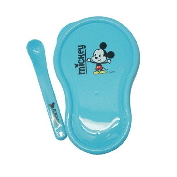 Disney Cuties Bowl With Spoon Set - Mickey Blue