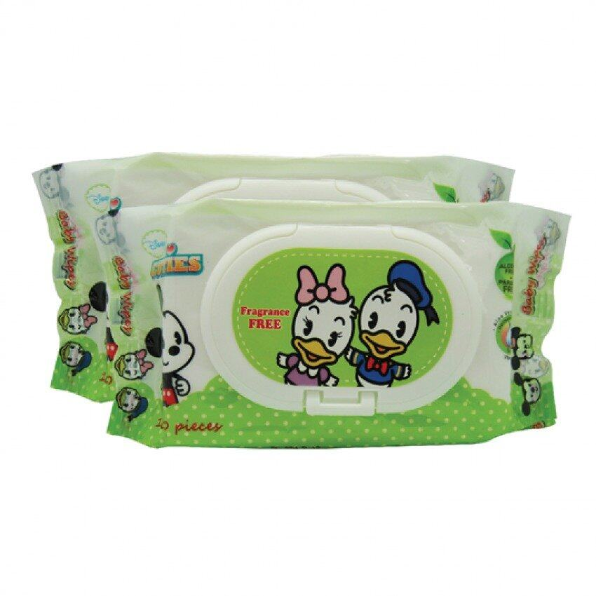Disney Cuties Fragrance Free Wet Wipes Set 100PCS - Donald And Daisy