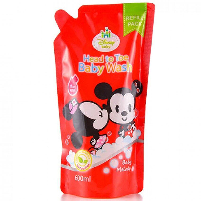 Disney Cuties Head To Toe Baby Wash Refill Pack 600ML - Baby Melody