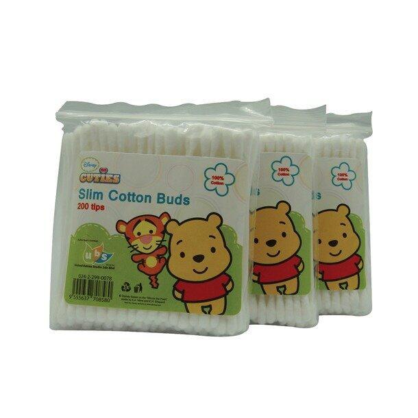 Disney Cuties Slim Cotton Buds 600 Tips - Winnie The Pooh