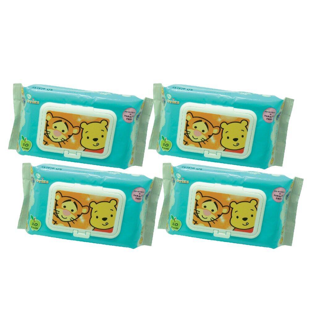 Disney Cuties Wet Wipes 4 x 80 pcs