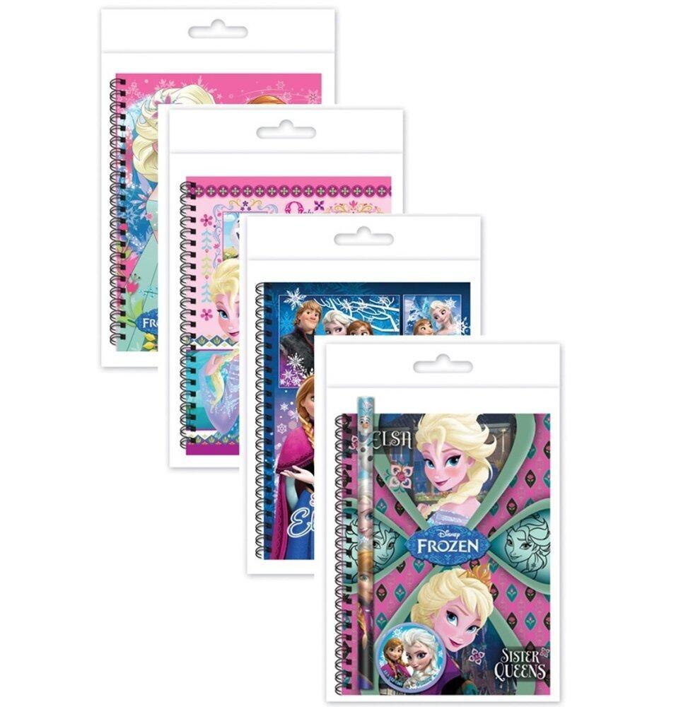 Disney Frozen A6 50's Hard Cover Note Book Set