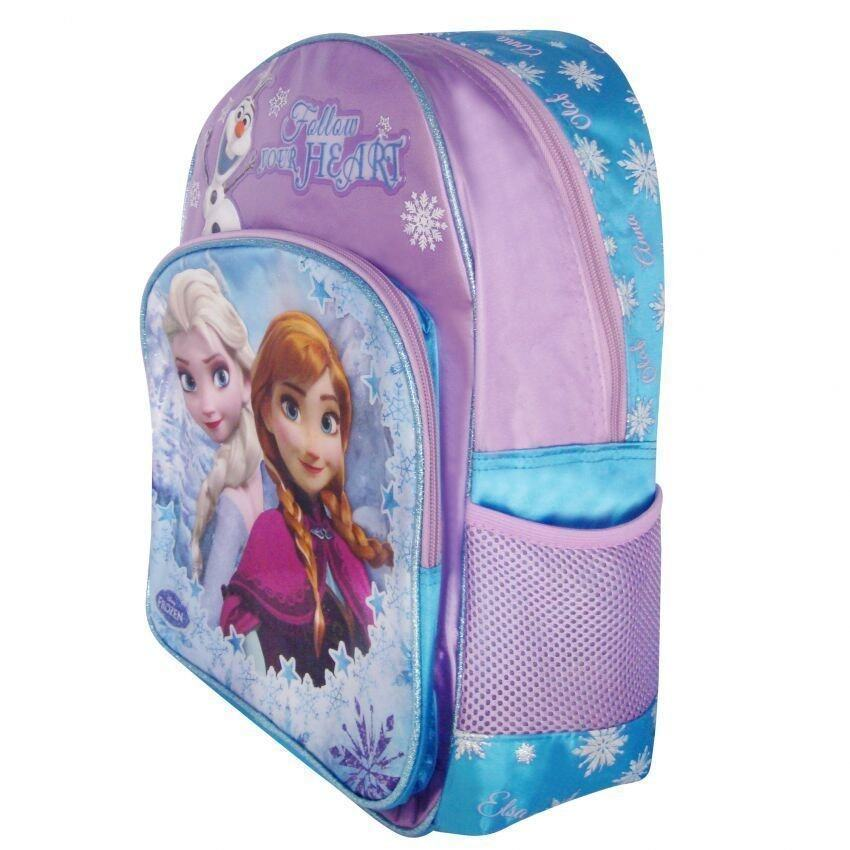 Disney Frozen School Bag With Square Pencil Bag Set Purple