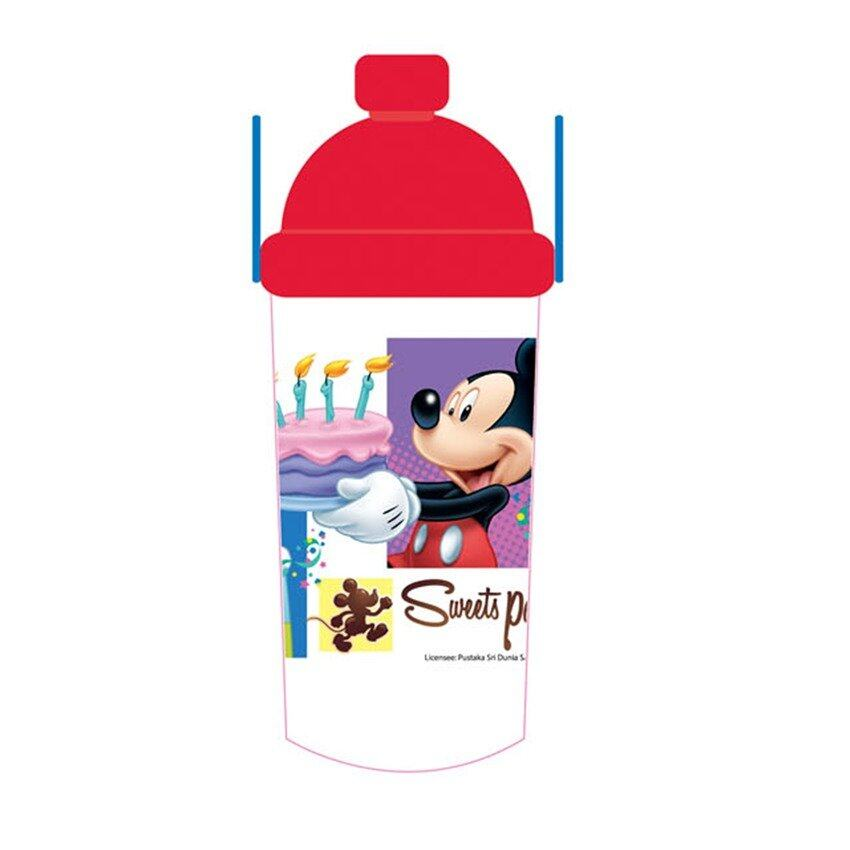 Disney Mickey 350ML Water Bottle - Red Colour