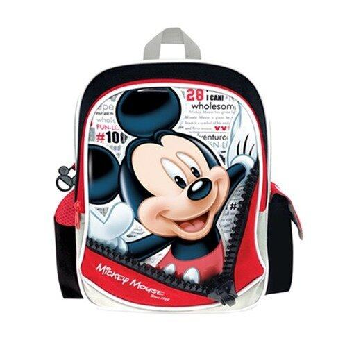 "Disney Mickey Backpack 12"" - Red And Black Colour"
