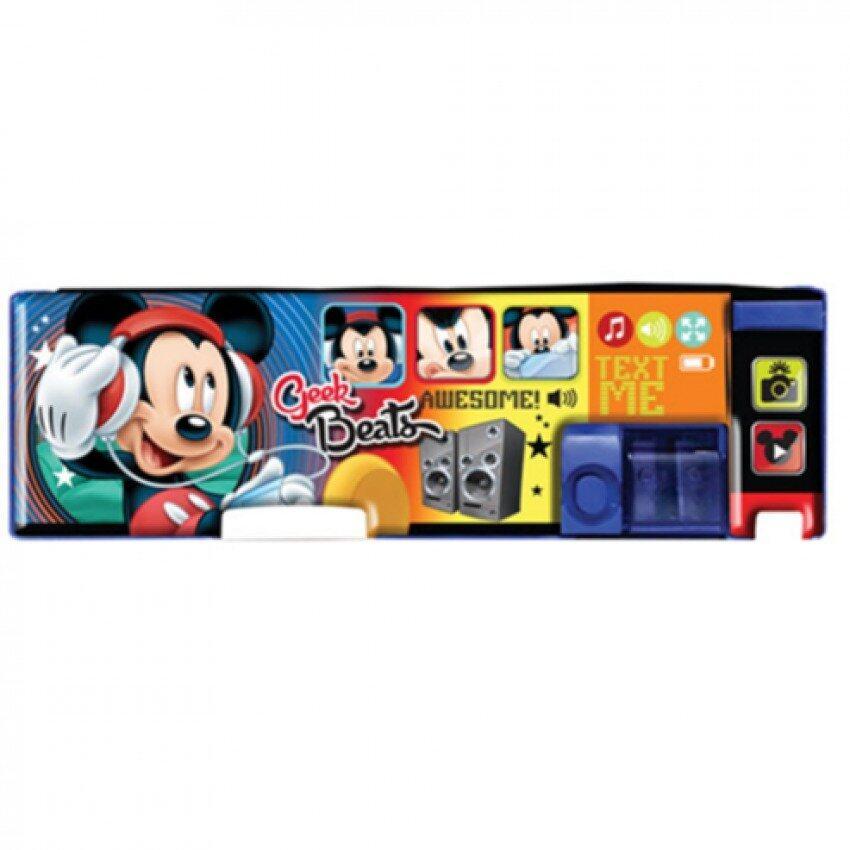 Disney Mickey Magnetic Pencil Case - Blue And Orange Colour