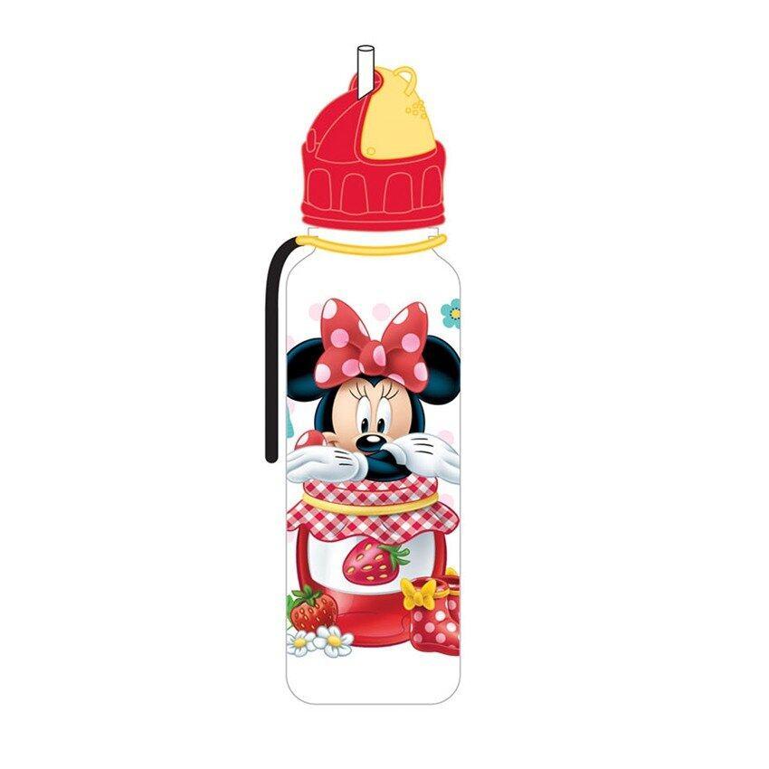 Disney Minnie 650ML Tritan Bottle With Straw - Red Colour