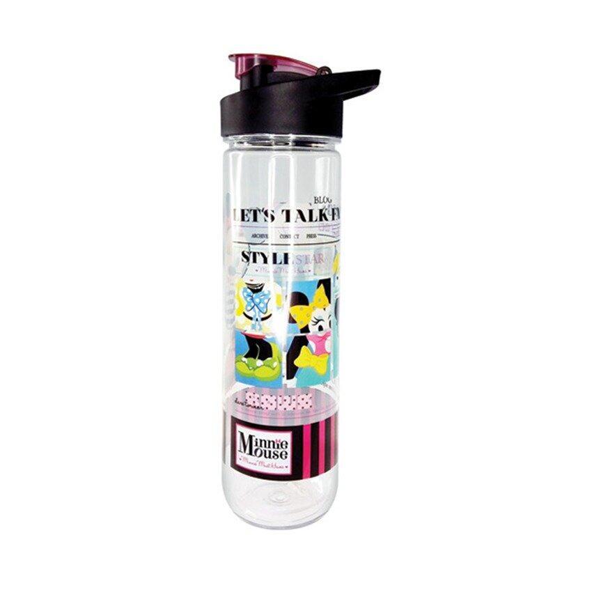 Disney Minnie 800ML Tritan Bottle - Black Colour