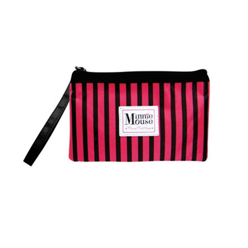 Disney Minnie Adult Hand Pouch - Pink And Black Colour