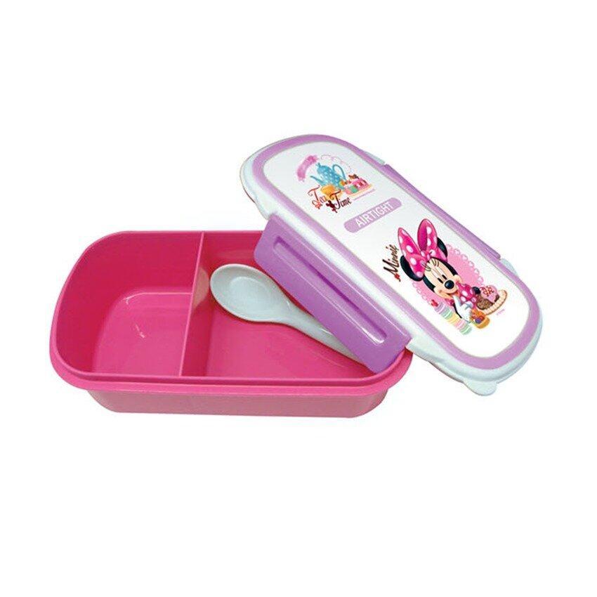 Disney Minnie Lunch Box Bottle Set - Purple Colour