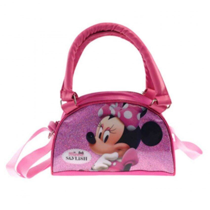 Disney Minnie Sling Bag With Handle - Pink Colour