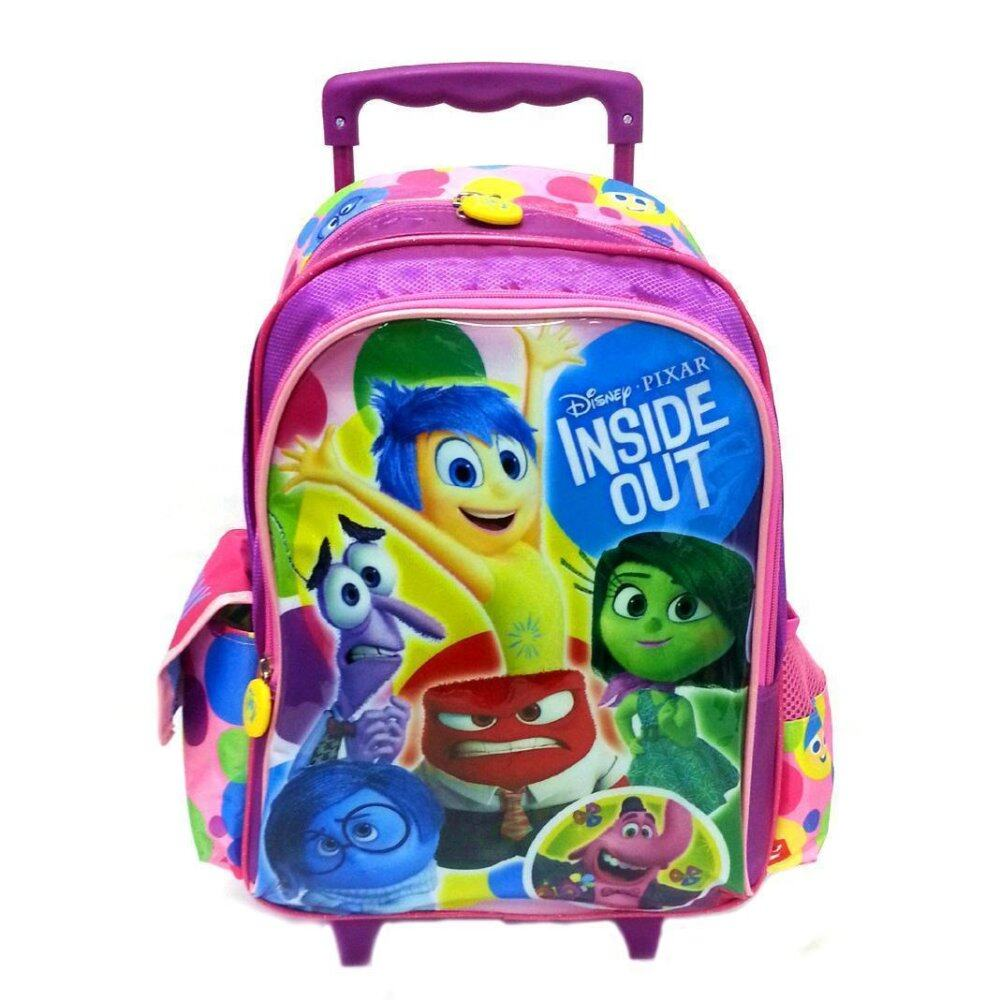 Disney Pixar Inside Out School Trolley Bag - Pink