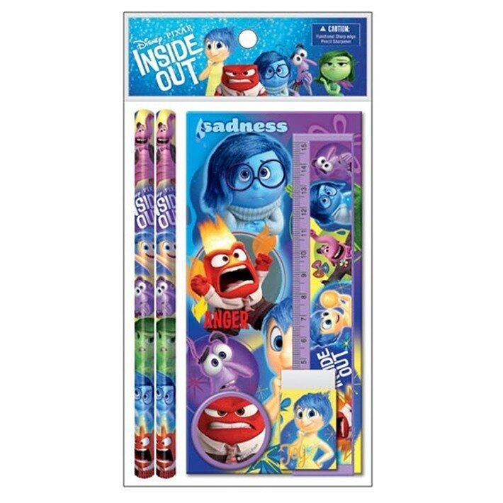 Disney Pixar Inside Out Stationery Set Value Pack - Blue And Purple