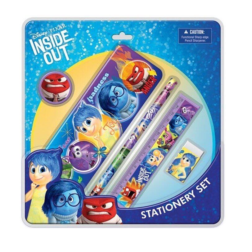 Disney Pixar Inside Out Stationery Set With Case - Blue