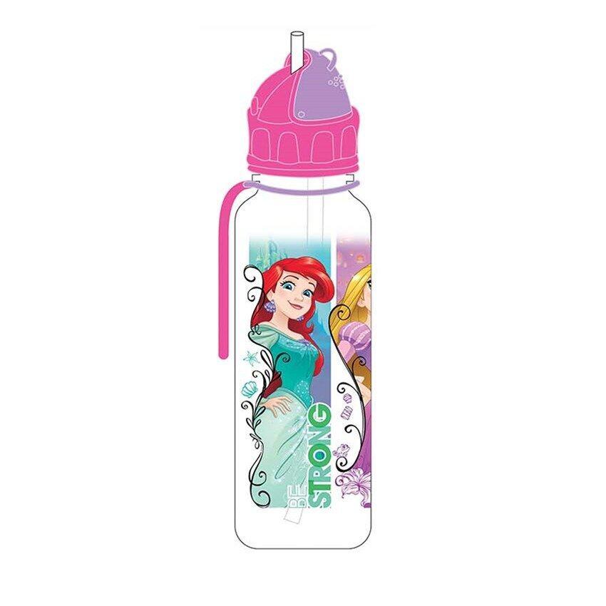 Disney Princess 650ML Tritan Bottle With Straw - Pink Colour