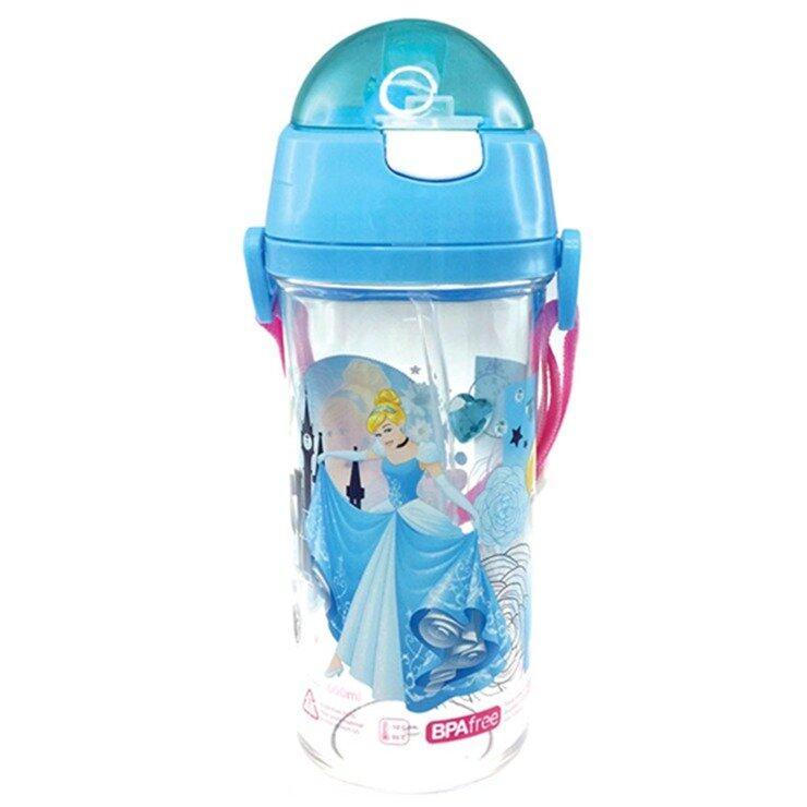 Disney Princess Cinderella 600ML Tritan Bottle - Blue Colour