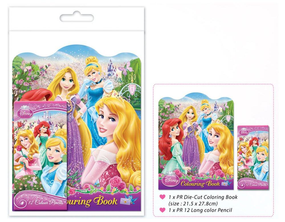 Disney Princess Colouring Book Set - Long