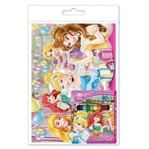 Disney Princess Colouring Book Set - Pink Colour