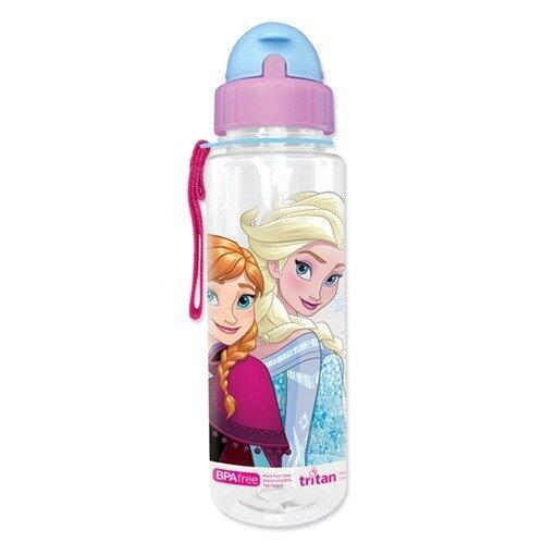 Disney Princess Frozen 650ML Tritan Bottle With Straw - Purple Colour