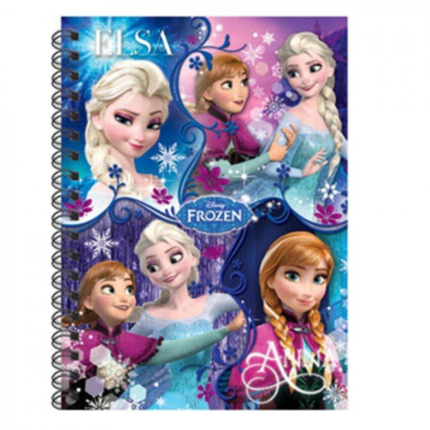 Disney Princess Frozen A6 50pgs Hard Cover Notebook Set - Blue Colour