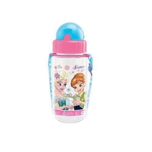 Disney Princess Frozen Fever 350ML Tritan Bottle - Pink And Blue Colour