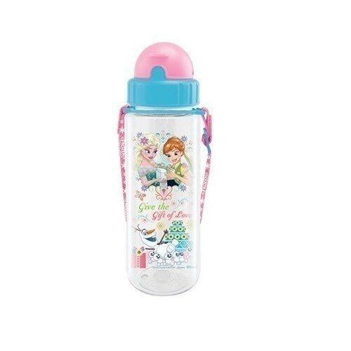 Disney Princess Frozen Fever 500ML Tritan Bottle - Blue And Pink Colour