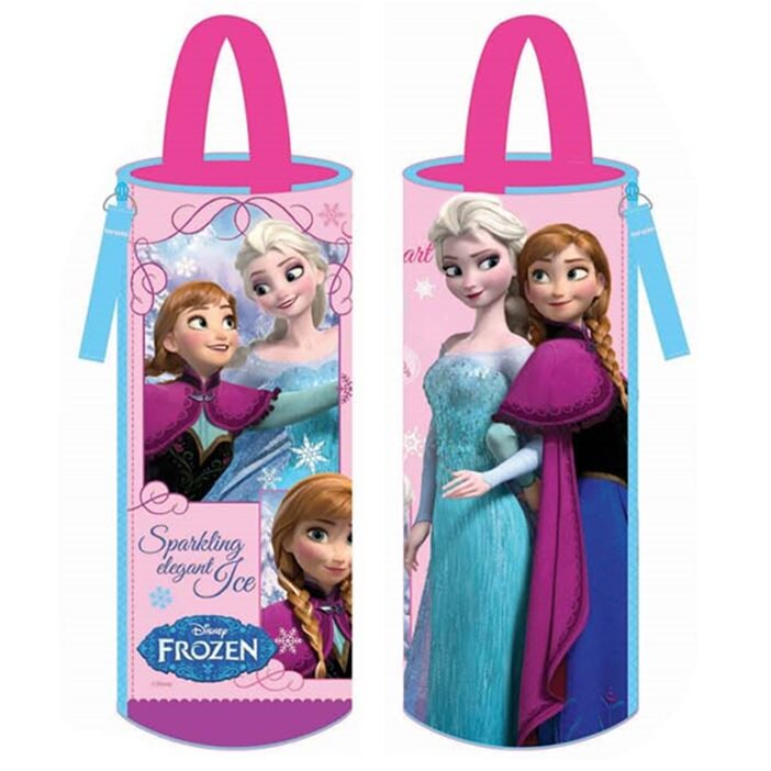 Disney Princess Frozen Round Pencil Bag - Pink Colour