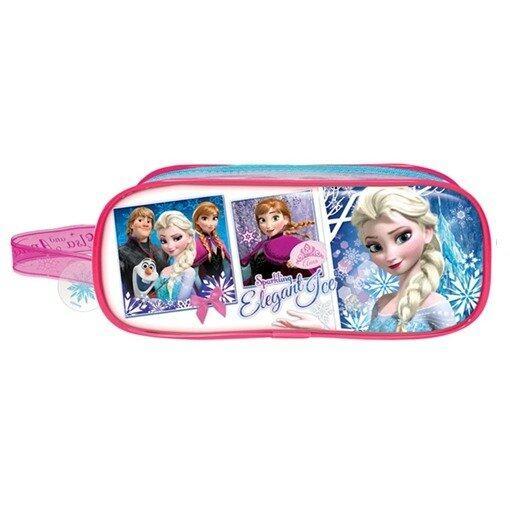 Disney Princess Frozen Square Pencil Bag Set - Blue And Pink Colour