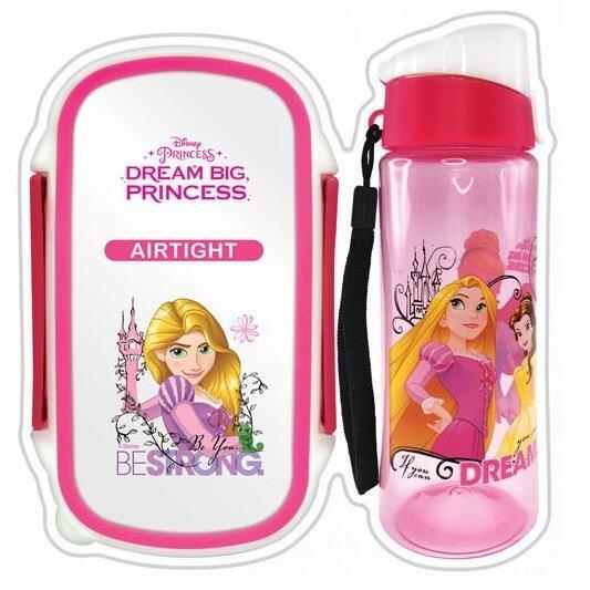 Disney Princess Rapunzel Lunch Box Bottle Set - Pink