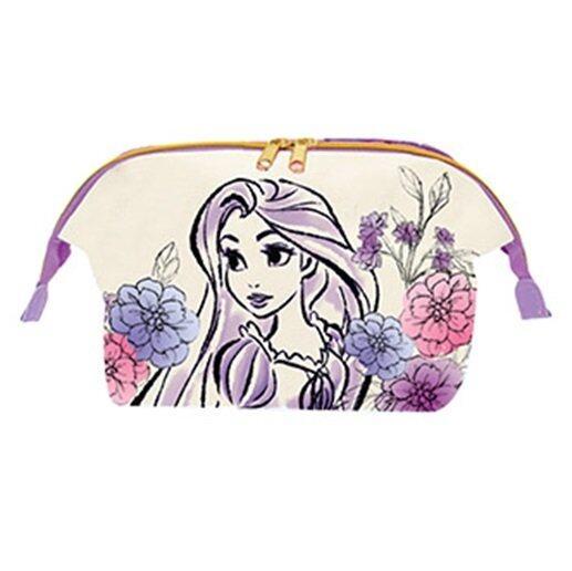 Disney Princess Rapunzel Adult Two Ways Zipper Cosmetic Pouch - Light Purple Colour