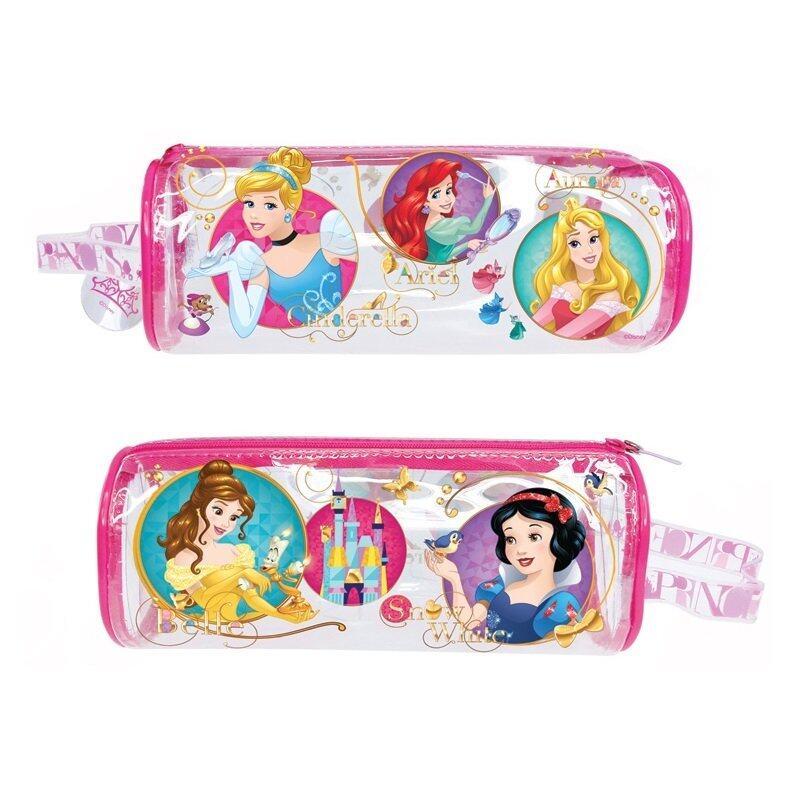 Disney Princess Round Pencil Bag Set - Pink Colour