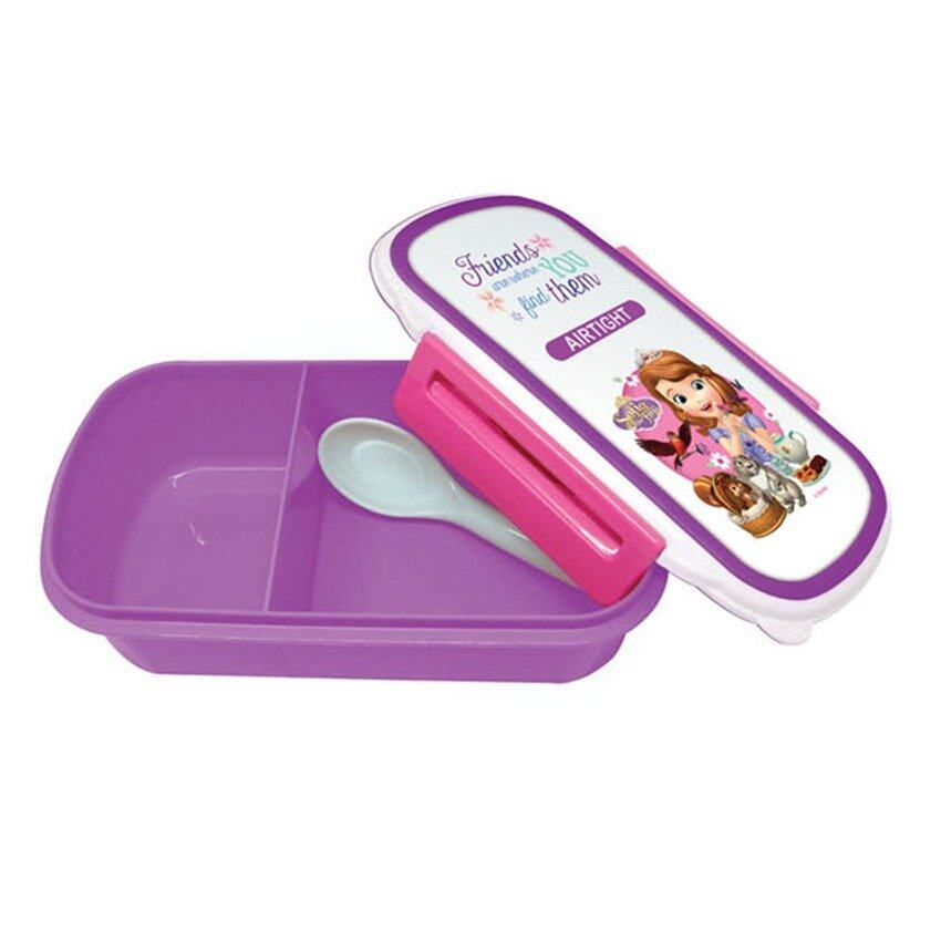 Disney Princess Sofia Lunch Box Bottle Set - Pink And Purple Colour