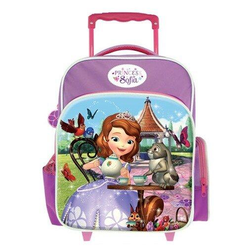 Disney Princess Sofia Pre School Trolley Bag - Pink And Purple Colour