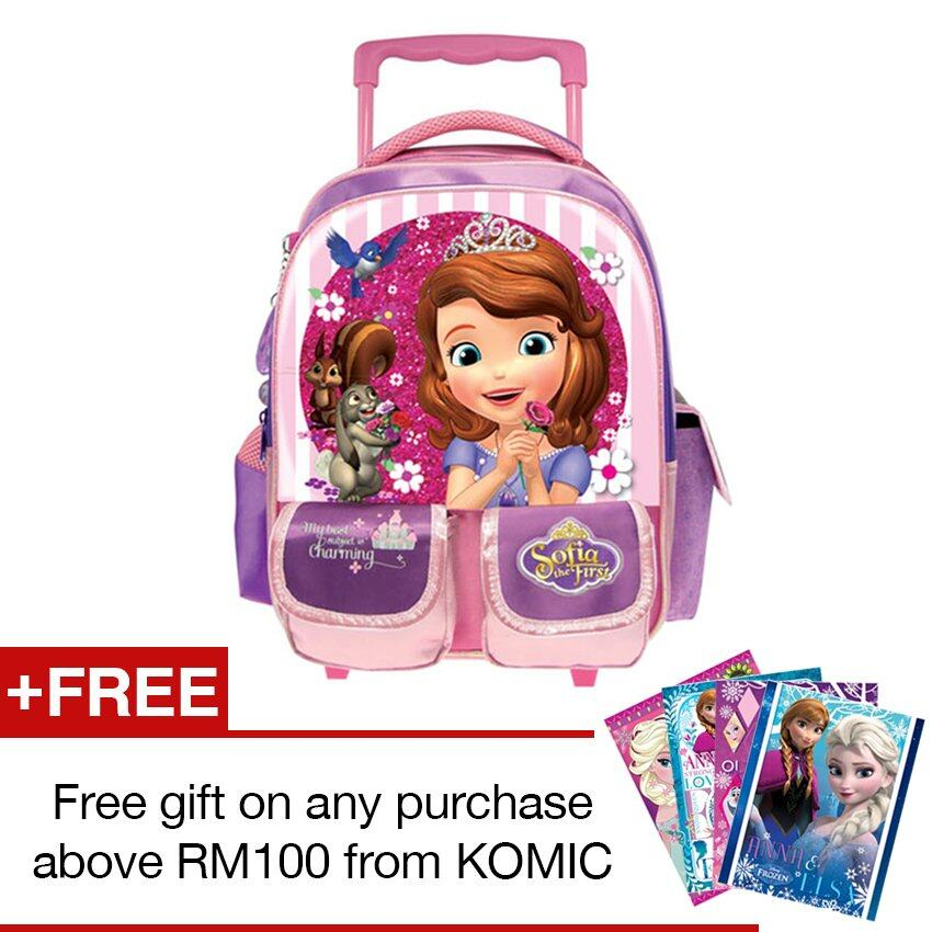 Disney Princess Sofia Pre School Trolley Bag - Purple Colour
