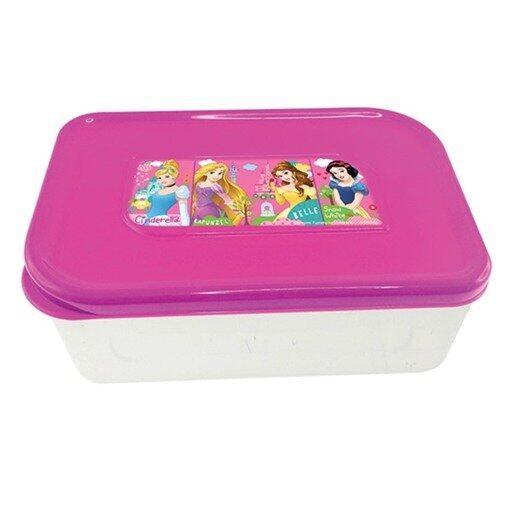 Disney Princess Square Lunch Box - Pink Colour
