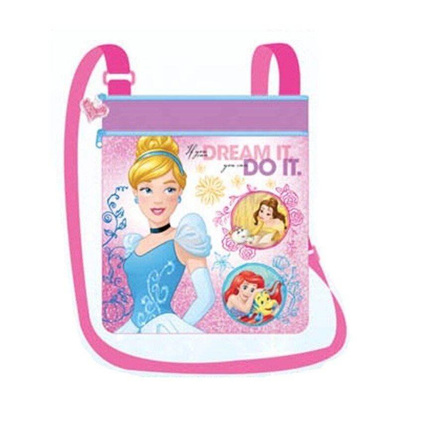 Disney Princess Square Sling Bag - Pink Colour