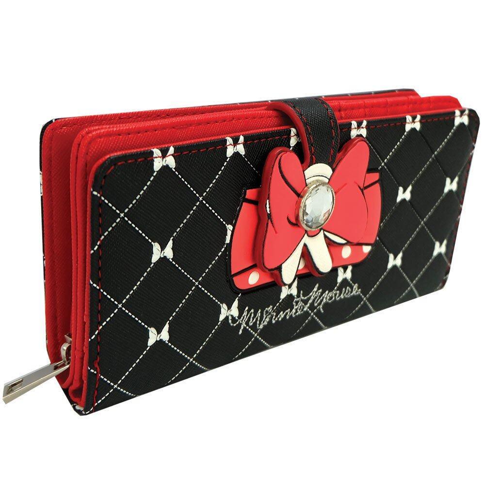 Disney Retro Minnie - ARW 1502 Minnie Long Purse (Black/Red)