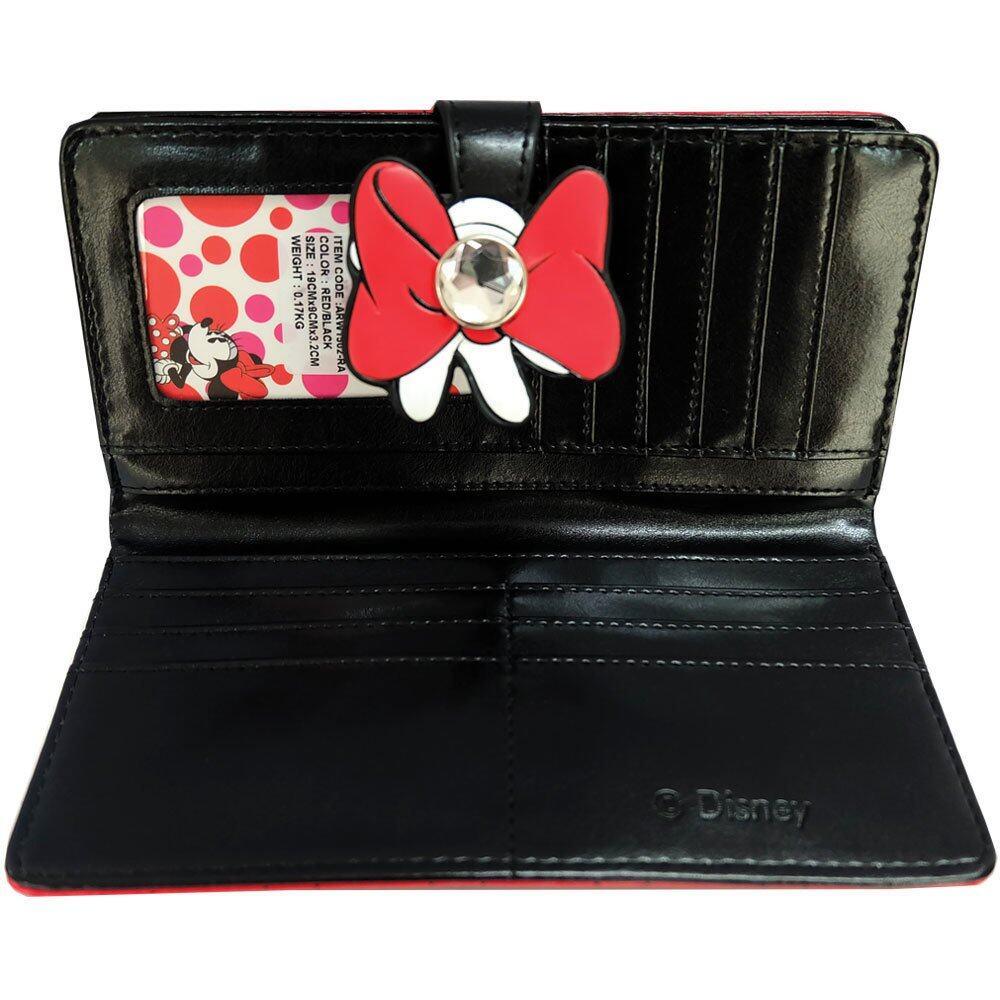 Disney Retro Minnie - ARW 1502 Minnie Long Purse (Red/Black)