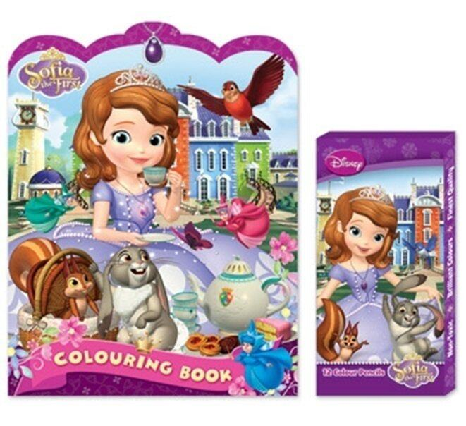 Disney Sofia Colouring Book Set - Long