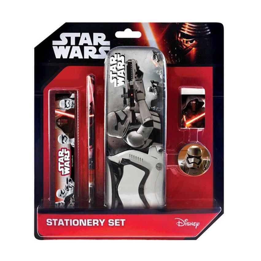 Disney Star Wars 5pcs Pencil Case Stationery Set - Black Colour
