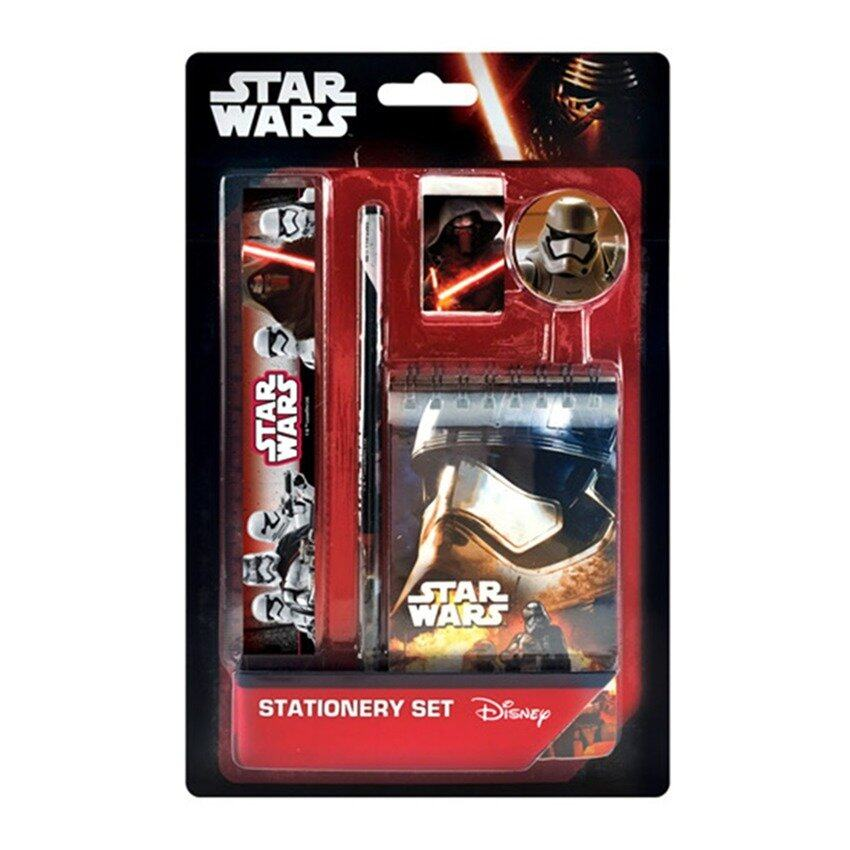 Disney Star Wars 5pcs Stationery Set With Notebook - Black Colour
