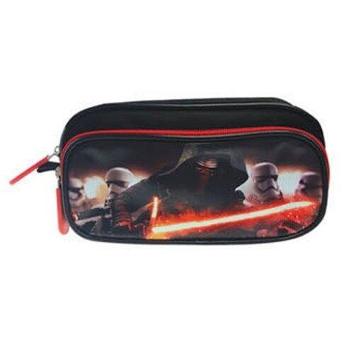 Disney Star Wars Square Pencil Bag - Black And Red colour