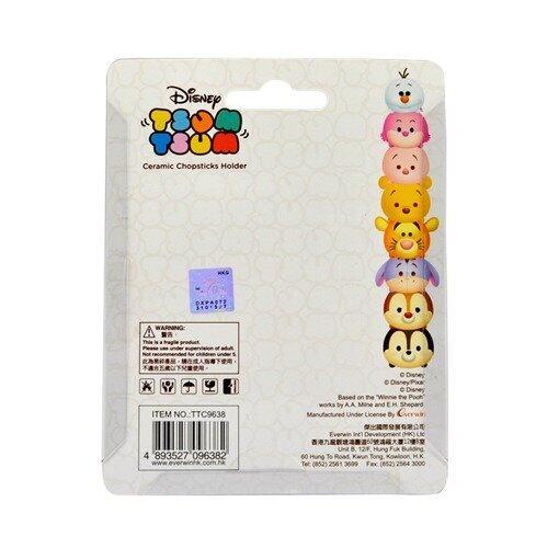 Disney Tsum Tsum 4pcs Ceramic Chopstick Holder Set - White Colour